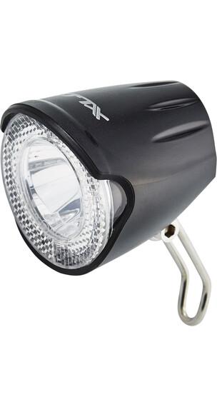 XLC LED voorlicht Fietsverlichting 20 Lux zwart/transparant